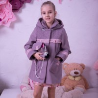 Пальто с сумочкой весна - осень для девочек 5 - 9 лет, цвета разные