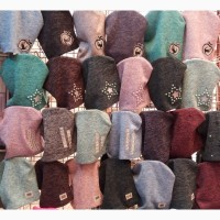 Весенние женские шапки и комплекты, объём головы 52- 60 см