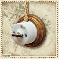 Продам Двухклавишный выключатель для наружного монтажа OP21WT ретро