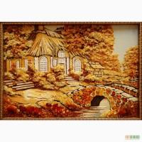 Пейзажи из янтаря (цена указана для размера 20х30 рамка деревянная)