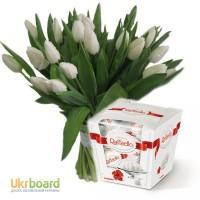 Букет под заказ в Киеве, поздравительный букет из тюльпанов на 8 марта