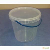 Пластиковое ведро с крышкой 1л