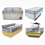 Холодильное оборудование горки/регалы бонеты, витрины (Выносной холод)