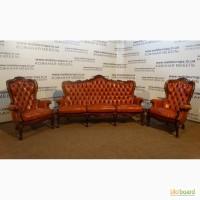 Продам кожаную мебель бежевого цвета