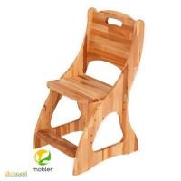 Детский растущий стул деревянный Моблер