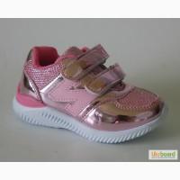 Кроссовки для девочек Lilin арт.7015C светло-розовые. блеск