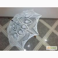 Зонт ажурный вязанный