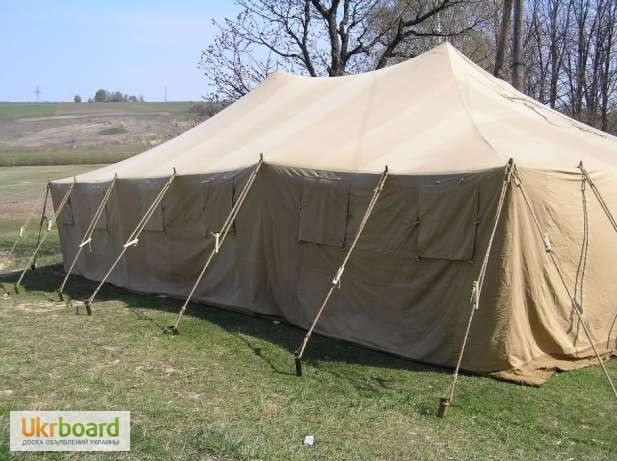 Фото 9. Палатка брезентовая