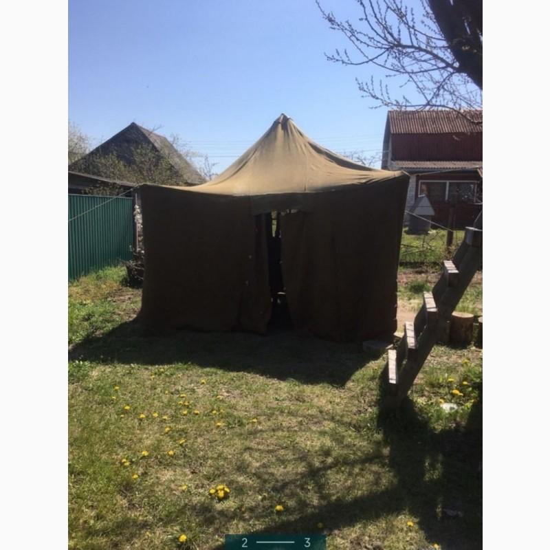 Фото 12. Палатка брезентовая
