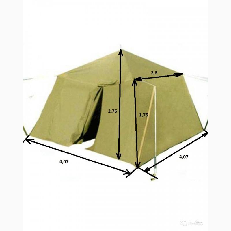 Фото 15. Палатка брезентовая