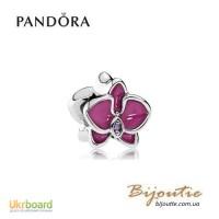 PANDORA Шарм ― пурпурная орхидея 792074EN69