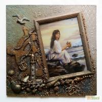 Морская фоторамка ручная работа Настенный морской декор Сувениры морской тематики