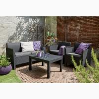 Голландська мебель Orlando Set With Large Table из искусственного ротанга