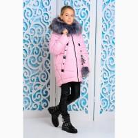 Зимняя куртка для девочки Матильда розовая. Разные цвета