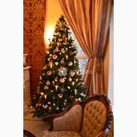Аренда шикарной новогодней елки 2, 7м с декором премиум класса (посуточно на мероприятие)