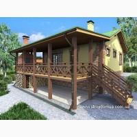 Построить каркасный дом в Харькове от производителя, проект Домик для отдыха