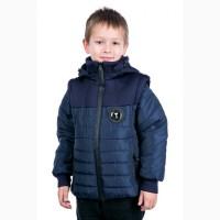 Новинка 2018 Весенняя куртка-жилетка для мальчика Босс разные цвета с 116-156 р