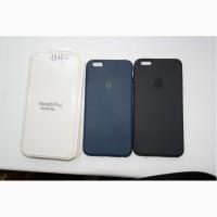 Силикон iPhone 6s+ черный, синий Soft touch