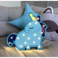 Детский LED светильник Единорог
