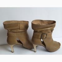 Крутые кожаные ботинки stradivarius, 35 размер, испания, stradivarius