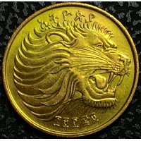 Эфиопия 10 центов 1977 год