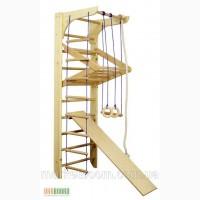 Спортивный уголок, спортивный комплекс из дерева, уголок спорта Kinder 3-220