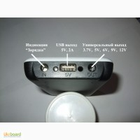 Внешний зарядный блок Powerbank 6Х18650. 2 выхода: 3.7В, 5В, 6В, 9В, 12В