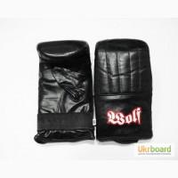 Кожаные боксерские перчатки битки (для работы по мешкам)