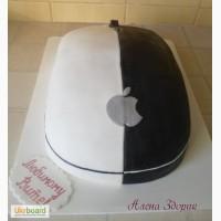 Праздничный торт для любимого в виде компьютерной мышки Аррle
