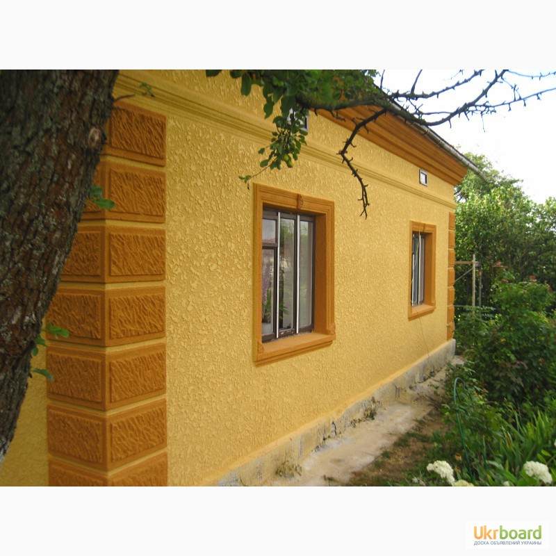 Декоративная штукатурка фасадов домов фото