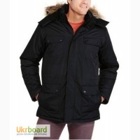 Куртка-парка зимняя мужская Swiss Tech с капюшоном черная XL