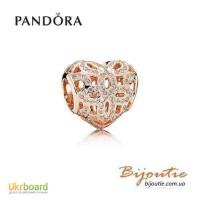 Оригинал PANDORA шарм любовь и признательность 780003CZ