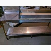 Стол из нержавейки бу 1, 9м, разделочный стол из пищевой нержавейки