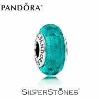 Скидки! Оригинал Pandora Пандора шарм мурано муранка бирюза арт. 791655
