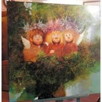 Картина маслом на подарок Ангелы в гнезде