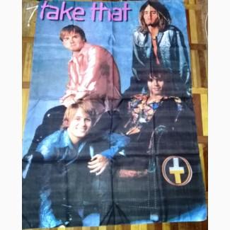 Баннер рок-группы Take That