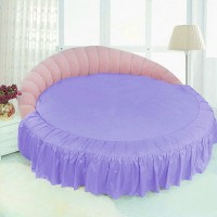 Простынь - подзор для круглой кровати. Сирень