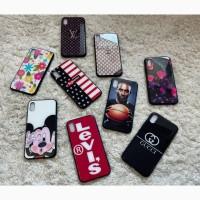 Стеклянный чехол с рисунком GLASS Case Print iPhone X/Xs и весь модельный ряд Яркий принт