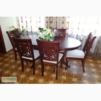 Раскладной стол и 6 мягких стульев