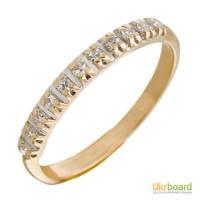 Золотое кольцо с бриллиантами 0,06 карат 16,5 мм. НОВОЕ Натуральные бриллианты!