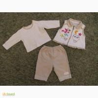 Детский КОСТЮМ для девочки тройка (стильная жилетка + кофта + штаны)