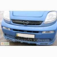 Зимняя накладка защита на решетку радиатора Опель Виваро (Opel Vivaro) 2001-2006 верх+низ
