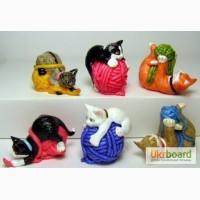 Киндер - кошки на клубках
