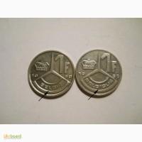 Бельгия-1 франк (2 разные)