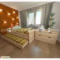 Детская кровать Капитошка из натурального дерева