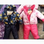 Детские зимние комбинезоны-тройка Саша и Маша 1-2-3 года