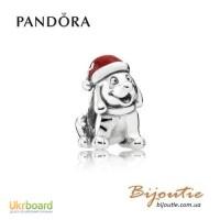 Оригинал PANDORA шарм 8213; рождественский щенок 791769EN39