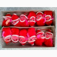 Комплект елочных украшений - Санта-Клаусы / цена за все