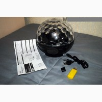 Диско шар MP3 Portable Speaker RE-VL-004 с флешкой