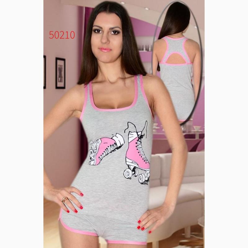 Пижамы майка и шорты женские оптом піжами майка і шорти жіночі гуртом a58bce0897f50